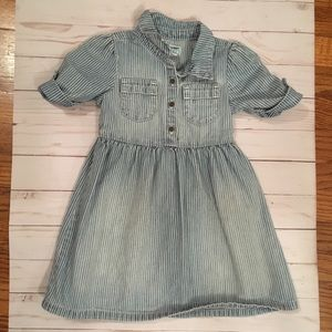 Old Navy denim striped dress 3T